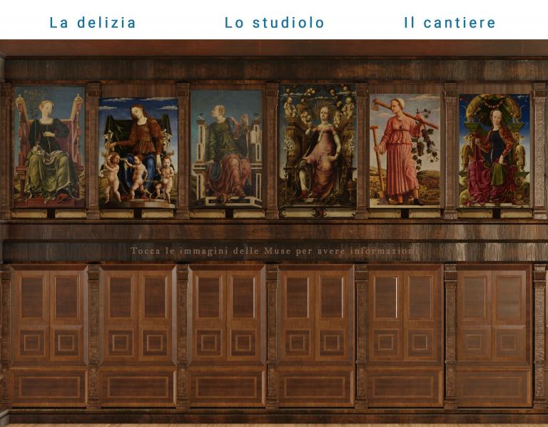Virtual tour studiolo di belfiore gallerie estensi pinacoteca nazionale di ferrara